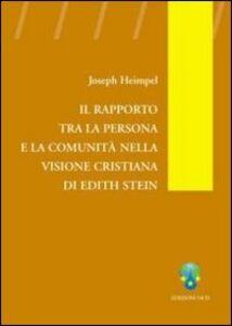 Il rapporto tra la persona e la comunità nella visione cristiana di Edith Stein