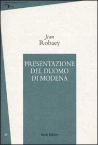 Presentazione del Duomo di Modena