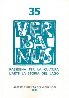 Listadelpopolo.it Verbanus. Rassegna per la cultura, l'arte, la storia del lago. Vol. 35 Image