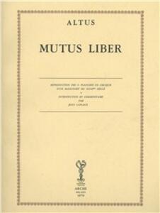 Mutus liber (rist. anast. 1760)