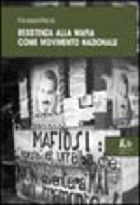 Resistenza alla mafia come movimento nazionale