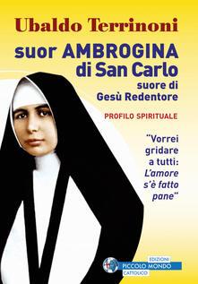 Suor Ambrogina di San Carlo. Suore di Gesù Redentore. Profilo spirituale - Ubaldo Terrinoni - copertina