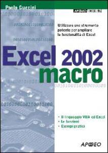 Excel 2002 macro