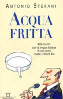 Acqua fritta. 999 scontri con la lingua italiana (e non solo) made in nord-est - Antonio Stefani - copertina