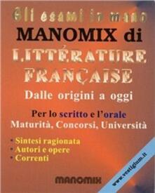 Vitalitart.it Manomix di litterature française. Dalle origini a oggi. Riassunto completo Image