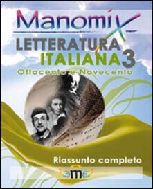 Manomix di letteratura italiana. Vol. 3 - copertina