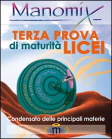 Nicocaradonna.it Manomix. Terza prova di Maturità. Licei Image