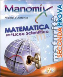 Manomix. Matematica per il Liceo scientifico - copertina