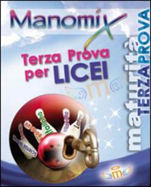 Manomix. Terza prova di Maturità per i Licei - copertina