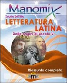 Antondemarirreguera.es Manomix. Letteratura latina. Riassunto completo Image