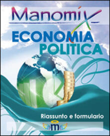 Manomix. Economia politica. Formule e sintesi - copertina