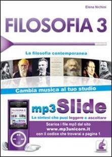 3tsportingclub.it Filosofia. Riassunto da leggere e ascoltare. Con file MP3. Vol. 3: La filosofia contemporanea. Image