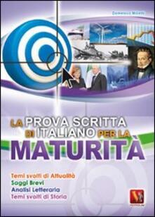La prova scritta di italiano per la maturità - Domenico Milletti - copertina