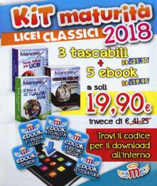 Librisulladiversita.it Manomix. Maturità per Licei classici 2018. Kit. Con 5 ebook Image