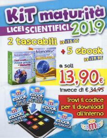 Manomix. Kit maturità 2019 licei scientifici: Temi svolti per la prima prova di maturità-Matematica. Formulario completo. Con 5 ebook - copertina