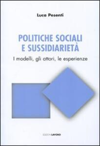 Politiche sociali e sussidiarietà