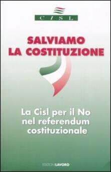 Salviamo la costituzione. La Cisl per il no nel referendum costituzionale - copertina
