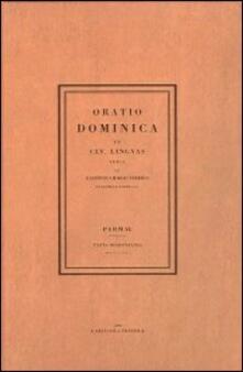 Oratio dominica (rist. anast. 1806) - G. Battista Bodoni - copertina