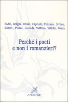 Perché i poeti e non i romanzieri? - copertina