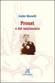 Proust o del sentimento - Guido Morselli - copertina