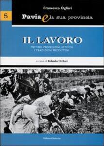 Pavia e la sua provincia. Vol. 5: Il lavoro. Mestieri, professioni, attività e tradizioni produttive. - Francesco Ogliari - copertina