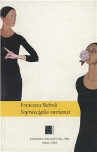 Sopracciglio variante - Francesca Reboli - copertina