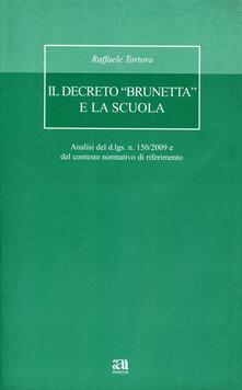 Ristorantezintonio.it Il decreto «Brunetta» e la scuola. Con CD-ROM Image