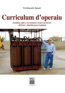 Listadelpopolo.it Curriculum d'operaiu. Aneddoti, fatti e avvenimenti vissuti sul lavoro all'Enel-Distribuzione Calabria Image