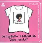 Idee regalo T-Shirt Mafalda a maniche corte, donna, taglia S. Bianco. Oggi mordo! Magazzini Salani