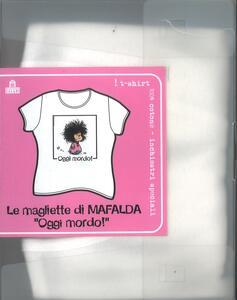 T-Shirt Mafalda a maniche corte, donna, taglia S. Bianco. Oggi mordo! - 3