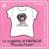Idee regalo T-Shirt Mafalda a maniche corte, donna, taglia M. Bianco. Piccola peste Magazzini Salani