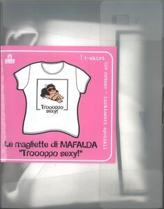 T-Shirt Mafalda a maniche corte, donna, taglia S. Bianco. Troppo sexy - 3