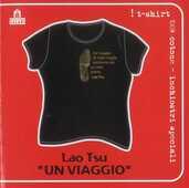 Idee regalo T-Shirt Lao Tsu a maniche corte, donna, taglia S. Nero. Un viaggio Magazzini Salani