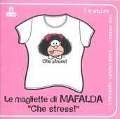 Idee regalo T-Shirt Mafalda a maniche corte, donna, taglia S. Bianco. Che stress Magazzini Salani