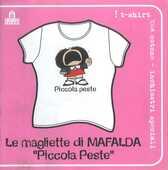 Idee regalo T-Shirt Mafalda a maniche corte, donna, taglia S. Bianco. Piccola peste Magazzini Salani