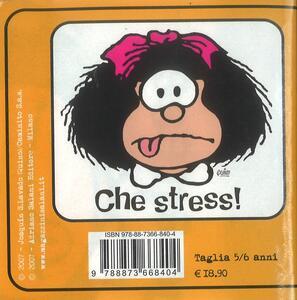 T-Shirt Mafalda a maniche corte, bambino 5/6 anni. Bianco. Che stress! - 2