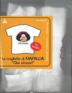 T-Shirt Mafalda a maniche corte, bambino 5/6 anni. Bianco. Che stress! - 3