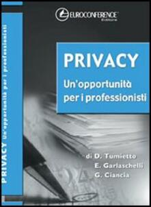 Privacy. Un'opportunità per i professionisti
