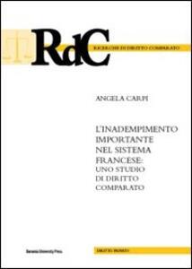 L' inadempimento importante nel sistema francese. Uno studio di diritto comparato