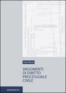 Argomenti di diritto processuale civile