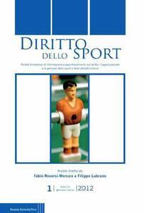 Diritto dello sport (2012). Vol. 1