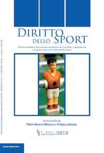 Diritto dello sport (2013) vol. 1-2