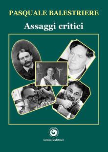 Assaggi critici - Pasquale Balestriere - copertina