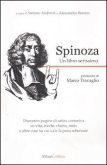 Spinoza. Un libro serissimo - copertina