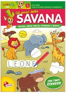 Gli amici della savana. Con adesivi. Ediz. illustrata.pdf