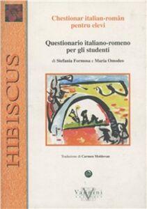 Questionario italiano-romeno per gli studenti