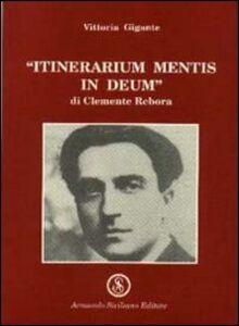 Itinerarium mentis in Deum di Clemente Debora