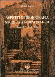 Aspetti di demografia storica a Forza D'Agrò