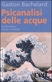 Psicanalisi delle acque - Gaston Bachelard - copertina