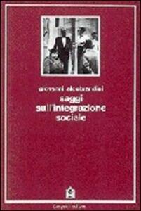 Saggi sull'integrazione sociale